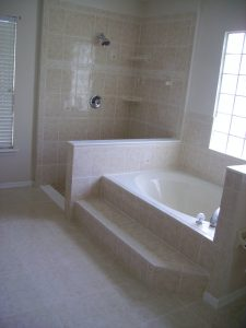 Custom Tiled Shower and Tub Surround