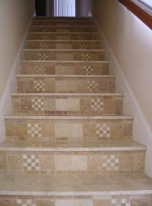 Custom Tiled Staircase