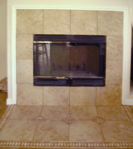 Custom Tiled Fireplace Surround