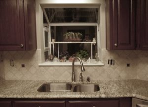 Custom tiled kitchen backsplash