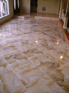 Custom Large Tile Floor